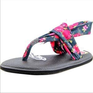 •HOST PICK•SANUK  NIB  Floral Yoga Sling Sandals•
